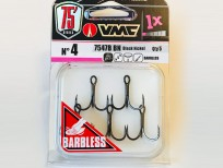 Vmc treble hooks barbless (7547)